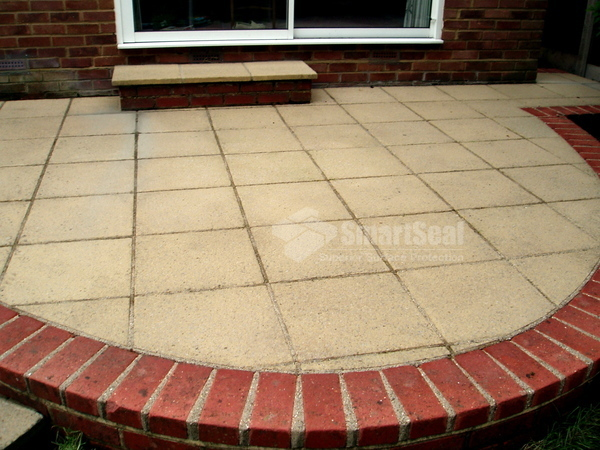 Paving slabs after cleaning